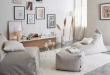 dekorasi ruang keluarga tanpa sofa