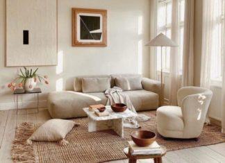 dekorasi ruang tamu japandi